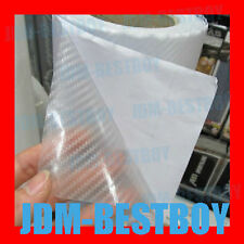 "12""x60"" CLEAR CARBON FIBER Self Adhesive Vinyl Sticker Wrap 5sq/ft Hood Roof"