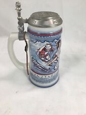 Anheuser Busch Stein Us Winter Olympic Albertville France 1992 - Preowned