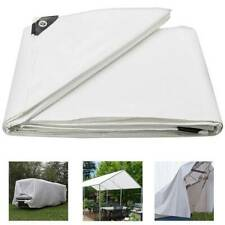 Heavy Duty Poly Tarp Water Proof Tarpaulin Canopy Tent Outdoor Boat Car Cover