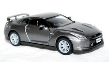 2009 Nissan GT- R Gray Super Car Auto Die-Cast Model Miniature Toy Silver R35