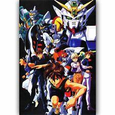20A554 Hot New Mobile Suit Gundam Wing Cartoon Art Poster Silk Deco 12x18 24x36