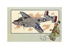 HERGé/TINTIN 195x  CHROMO L AVIATION 1939/45  N°48 BE-