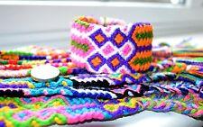 Friendship Bracelets Wholesale Bulk lot 12, 4cm Wide Style Nylon Multi -colour
