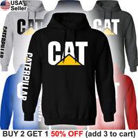 Caterpillar Hooded Sweat Shirt Hoodie CAT Construction Equipment Men Sweater BLD