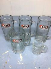 A & W Glasses 7 Inches Tall 3 One 6 Inches Tall And One Embossed Vintage Baby Be