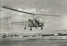Elicottero Bell in arrivo - Eliporto da Vinci Fiera di Milano - Viaggiata 1951
