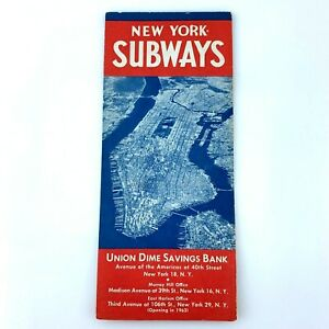 """1961 Map of New York City Subway System 