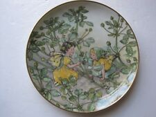 """VILLEROY & BOCH COLLECTORS PLATE """" THE BLACK MEDICK FAIRY"""" WITH CERTIFICATE"""