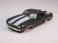 MODEL MOTORING BLACK W/WHITE STRIPES '69 CAMARO RS SHELL~NEW!~FITS AURORA TJET