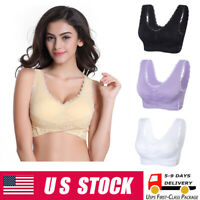 Women Sports Bra Front Cross Side Buckle Lace Sport Lift Bra Workout Yoga