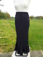 FRANK USHER Black Pull On Lined Chiffon Overlay Maxi Skirt UK 14 -16 NWT RP £119
