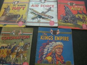 """5 x """"Boys Coronation Library"""" Military History Booklets! Supplements with Comics"""