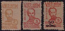 VIETNAM du NORD N°60/62 Neuf émis sans gomme,Ho Chi Minh 1949 North Vietnam NGAI