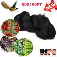 "50x100FT Anti Bird Net Netting for Bird Poultry Aviary Game Pens Mesh 2 x 2"""