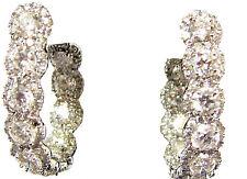 DIAMOND HOOP ROUND BRILLIANT SHAPE MICRO PRONG SET INSIDE OUTSIDE SET 7.95 CT
