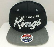 Los Angeles KINGS Script Hat NHL Retro Black/Gray One size Snapback Cap Zephyr
