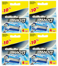 16 Stück (4pcs*4) Rasierklingen Gillette Mach3 Turbo. Neu+OVP. eBay-Garantie
