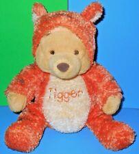 "Baby Winnie The Pooh Plush Dressed as Tigger Stuffed Rattle Inside Rare HTF 11"""