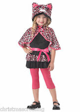 CUTESY KITTY CAT LEOPARD CHILD HALLOWEEN COSTUME GIRLS TODDLER SIZE LARGE 4-6