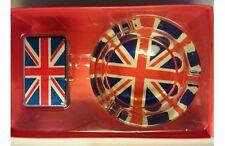 LONDON UNION JACK ASHTRAY & WINDPROOF LIGHTER SET SOUVENIR GIFT