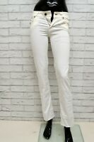 Pantalone DOLCE  GABBANA LOVELY Donna Taglia Size 24 Jeans Pants Woman Bianco