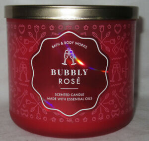Bath & Body Works 3-wick 14.5 oz Large Jar Scented Candle BUBBLY ROSE