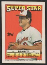 1988 TOPPS/O-PEE-CHEE STICKER BACKS #44 CAL RIPKEN