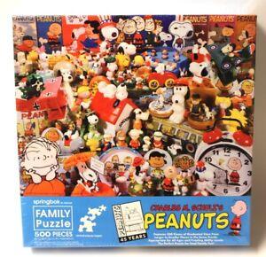 Peanuts 45th Anniversary Puzzle Charles M. Schulz 500pcs SEALED Springbok