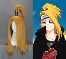 """(240A)  65cm/27.5"""" X Long Naruto-Deidara Golden Anime Cosplay Wig"""