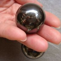 Hot!!! 2PCS 29mm Magnetic magnetite Hematite Sphere Crystal Ball Healing