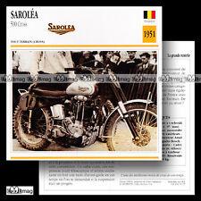#052.17 SAROLEA 500 CROSS 1951 Fiche Moto Motorcycle Card
