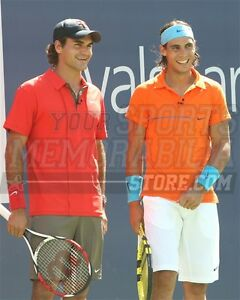 Roger Federer Rafael Nadal pre match duo smile 8x10 11x14 16x20 photo 710