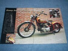 """1936 Indian Chief Custom Motorcycle Article """"Kenny and the Chief"""""""