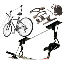 20KG Bike Bicycle Ceiling Hanger Lift Pulley Hoist Storage Stand Garage Rack NEW