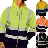Hi Viz Visibility Reflektierend Kapuzenjacke Arbeitsjacke Warnschutzjacke