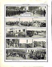 Armée de Bulgarie Bulgaria Army Parade Infantry Cavalry Ambulances Guns 1914 WWI