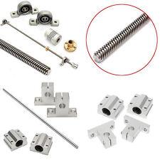 T8 Linear Guide Rails Shaft Screw Lead Ballscrew Nut Bearing Blocks Kits 500X8mm