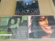 Janet Jackson 3 cd's- Love will never do, black cat, whoops now
