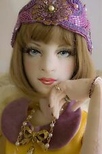 Olivia Flapper OOAK 1920s 1/3 BJD Size Cloth Boudoir Doll Art Doll by Gayle Wray