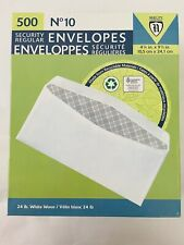 #10 Security Regular Envelopes - #10 24# 4⅛� x 9½� Nobility National 500 Per Box