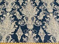 Fair Trade Denim Kaufmann Linen Drapery Upholstery Vintage Paisley Print Fabric