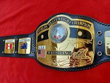 NWA DOM GLOBE WORLDS HEAVYWEIGHT CHAMPION WRESTLING BELT 4MM ZINC PLATES