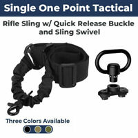 New Tactical Single Point Rifle Gun Sling w/ Quick Release Buckle - US Seller