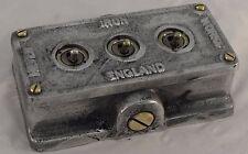 More details for vintage industrial cast metal 3 gang retrofit light switch - bs en approved