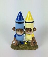 Wee Forest Folk M-533 Drawn Together - Custom Blue & Yellow