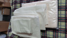 NEW! Bone Color  4-Piece Sheet Set With Blanket for Hospital Bed/Twin Bed -1 Set