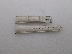 Genuine Michele 18mm White Alligator  Watch Band Strap Pre-Owned