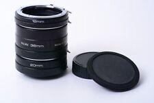 Soligor 12, 20, 36mm entre anillos F. Nikon F negro