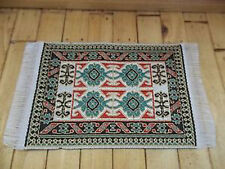 Dolls House Miniatures 1/12th D697B Green Turkish Rug 7 x 5 cms New *