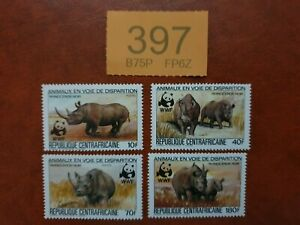 Central African Republic - 1983 -  Endangered Animals WWF MNH